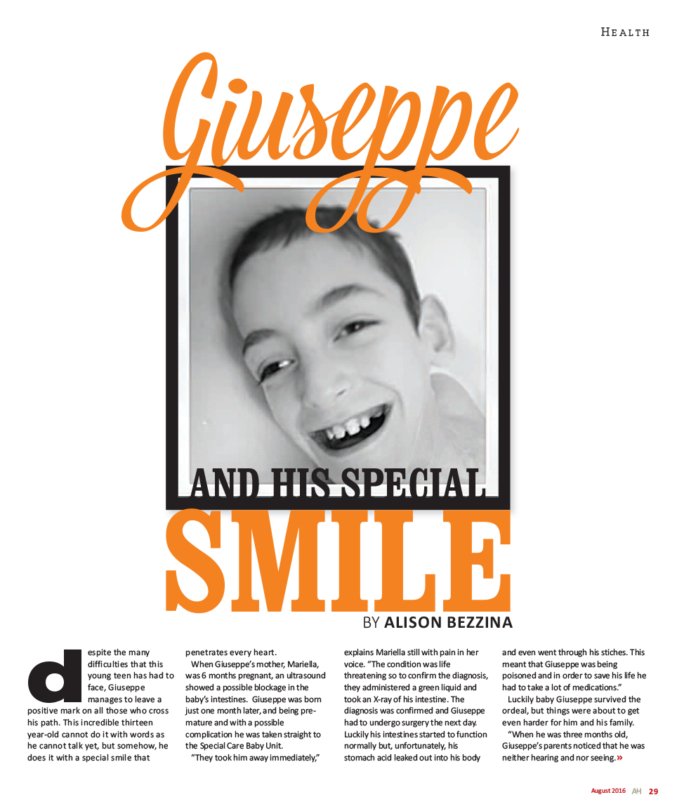 giuseppe and his special smile inspire foundation malta