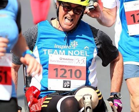 Noel finish line