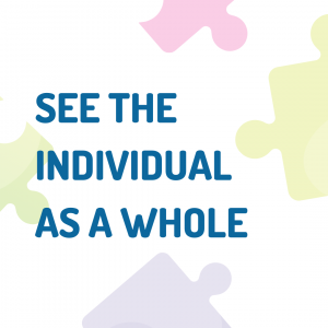 text: See the Individual as a whole
